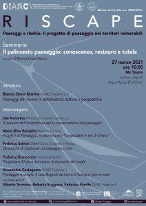 (Italiano) Il palinsesto paesaggio: conoscenza, restauro e tutela – Seminario on-line 27 marzo 2021