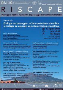 (Italiano) Ecologia del paesaggio: un'interpretazione scientifica – Seminario On-Line 17 Aprile 2021 Ore 10.00
